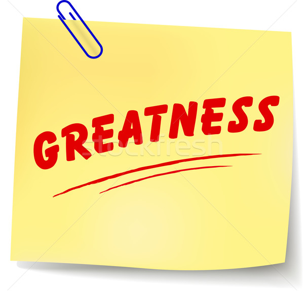 Vector greatness message Stock photo © nickylarson974