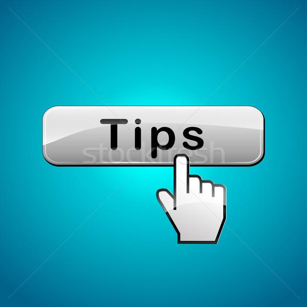 Vector tips button Stock photo © nickylarson974