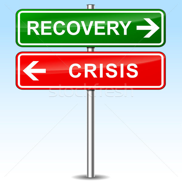 recovery and crisis directional sign Stock photo © nickylarson974