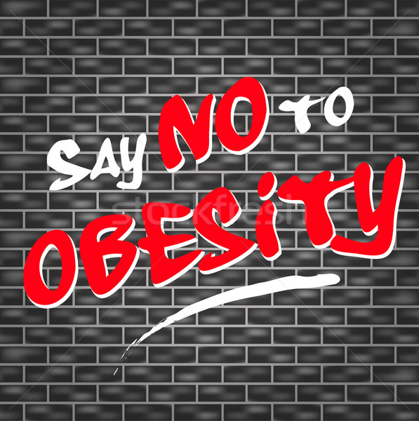 no obesity graffiti Stock photo © nickylarson974