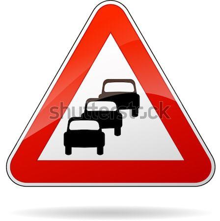 traffic jam sign Stock photo © nickylarson974