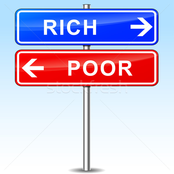 rich or poor choice Stock photo © nickylarson974