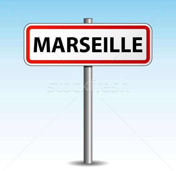 Vector marseille signpost Stock photo © nickylarson974