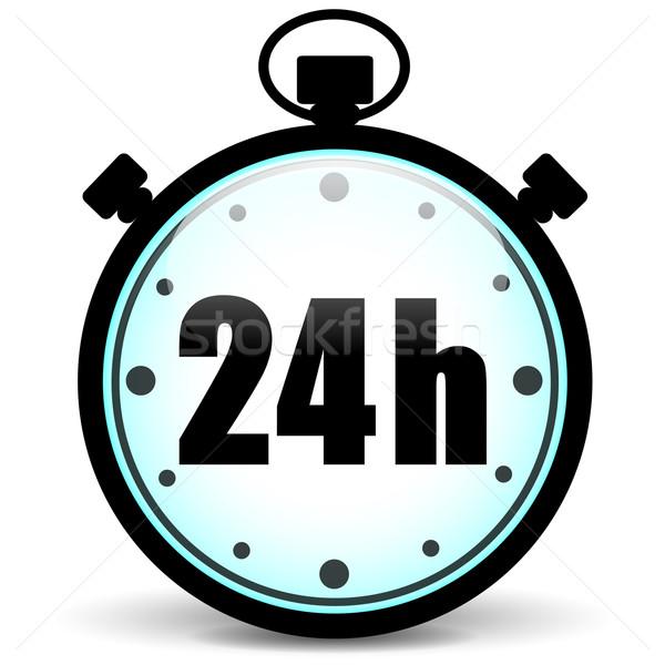 stopwatch 24h icon Stock photo © nickylarson974