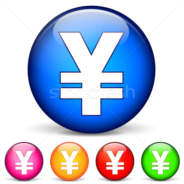 Vector yen icons Stock photo © nickylarson974