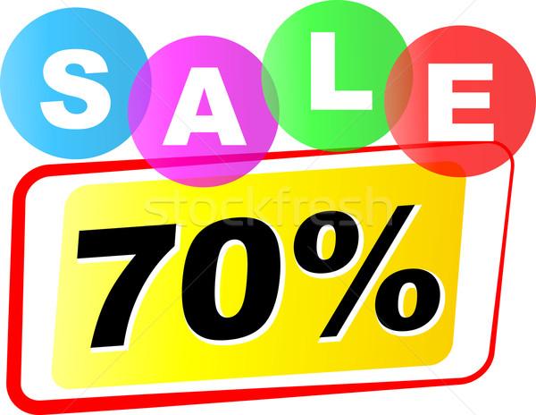 Vector seventy percent sale icon Stock photo © nickylarson974