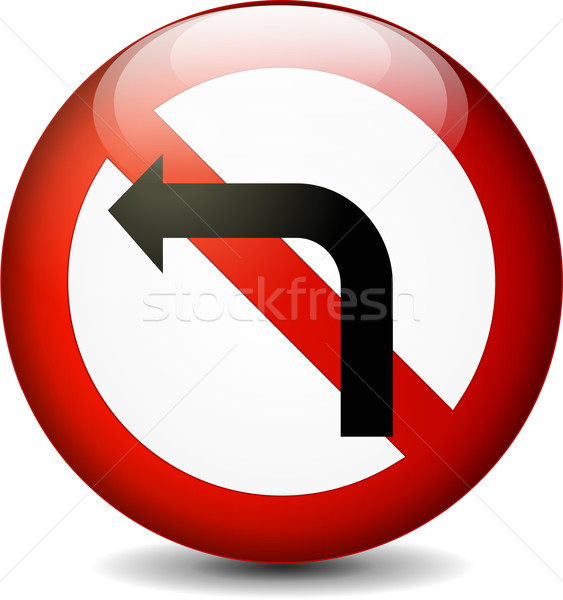 no left turn sign Stock photo © nickylarson974