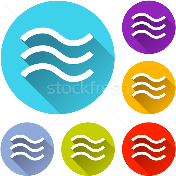 Alluvione icone sei colorato design arancione Foto d'archivio © nickylarson974