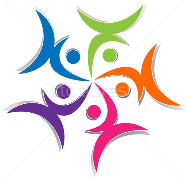 Personnes résumé illustration symbole blanche réunion Photo stock © nickylarson974