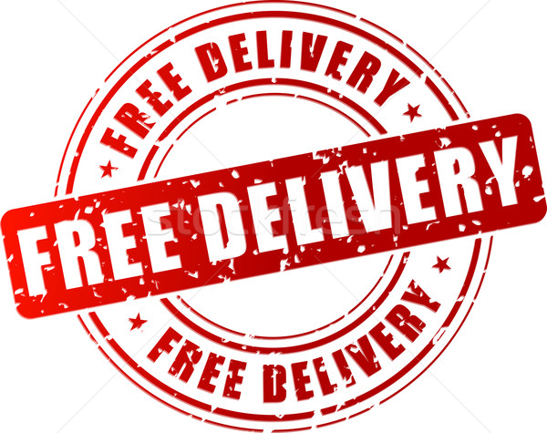 Vector free delivery stamp Stock photo © nickylarson974