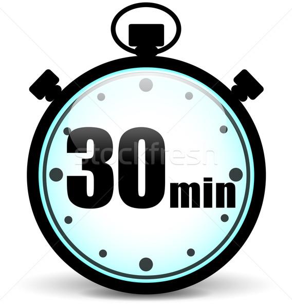 Dertig stopwatch icon teken snelheid Stockfoto © nickylarson974