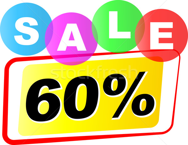 Vector sixty percent sale icon Stock photo © nickylarson974