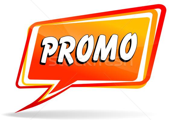 Promo discurso ilustração laranja projeto vermelho Foto stock © nickylarson974