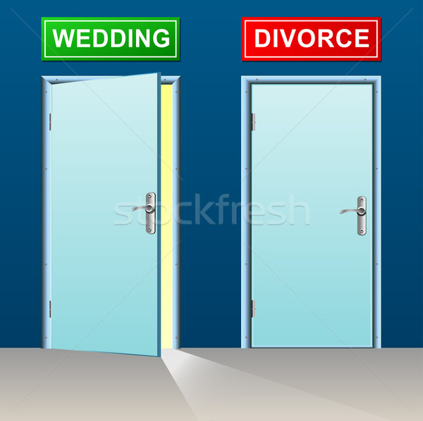 Wedding divorzio porte illustrazione design porta Foto d'archivio © nickylarson974