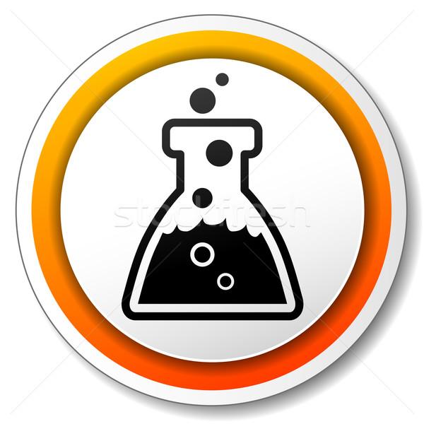 化学 オレンジ アイコン 実例 白 医療 ストックフォト © nickylarson974