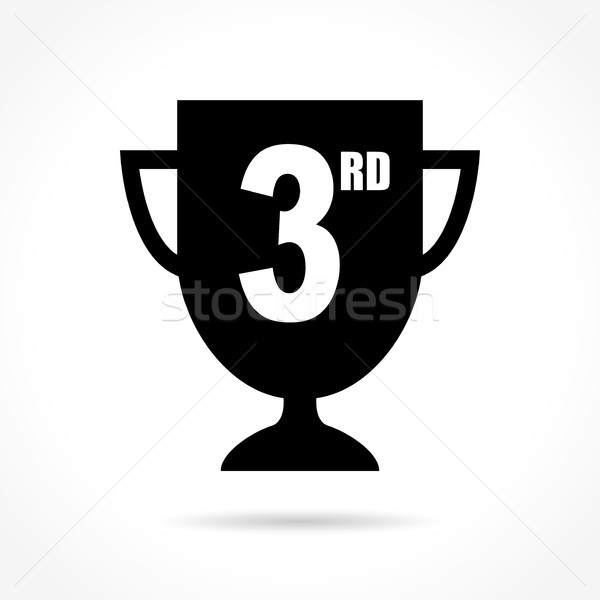 third icon on white background Stock photo © nickylarson974