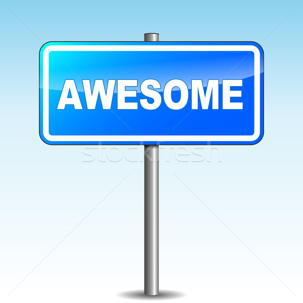 Vector awesome signpost Stock photo © nickylarson974