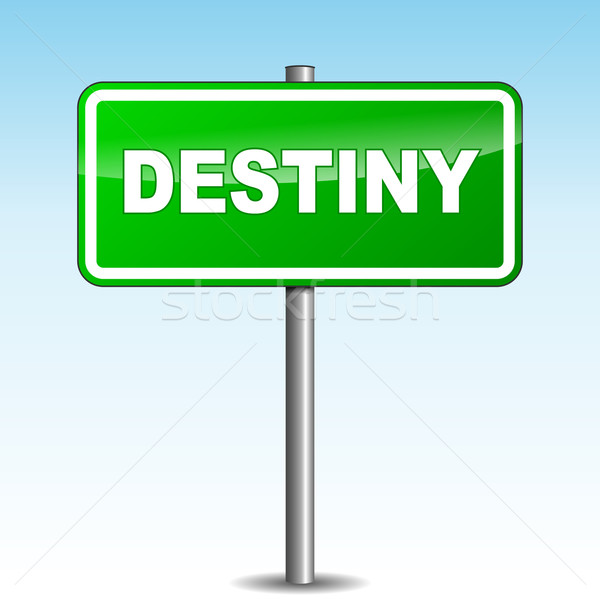 Vector destiny signpost Stock photo © nickylarson974