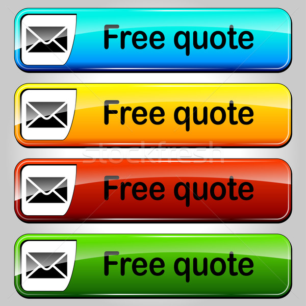 Vector free quote buttons Stock photo © nickylarson974