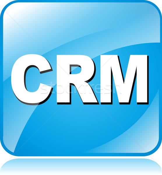 Crm ikon illusztráció kék tér üzlet Stock fotó © nickylarson974