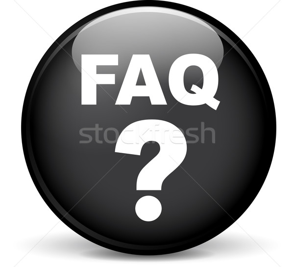 FAQ Symbol Illustration modernen Design schwarz Stock foto © nickylarson974
