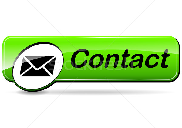 mail contact green button Stock photo © nickylarson974