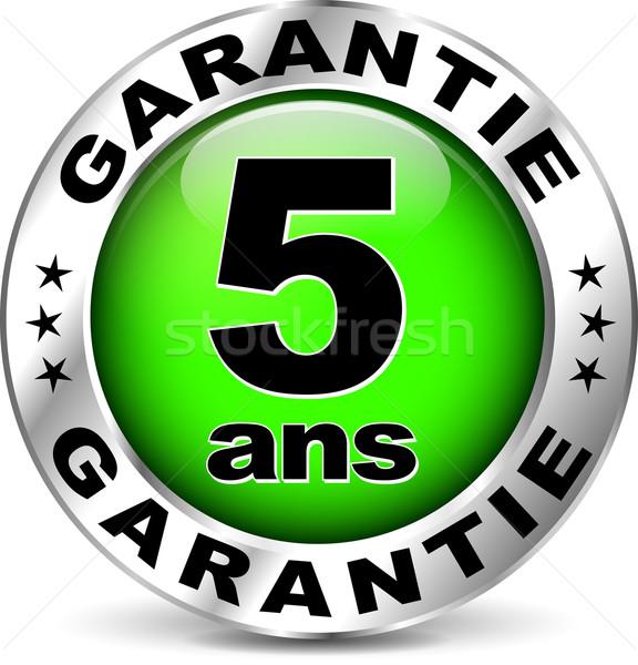 green warranty icon ( french translation ) Stock photo © nickylarson974