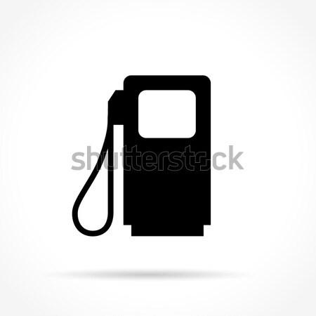 Benzinpumpa terv ikon illusztráció internet felirat Stock fotó © nickylarson974
