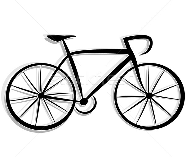 Bicycle drawing Stock photo © nickylarson974