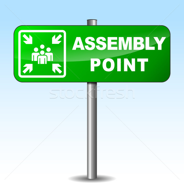 Vector assembly point signpost Stock photo © nickylarson974