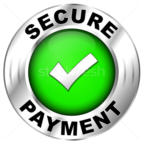 secure payment label Stock photo © nickylarson974