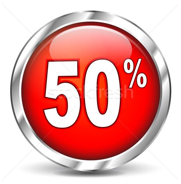 пятьдесят процент икона белый дизайна фон Сток-фото © nickylarson974