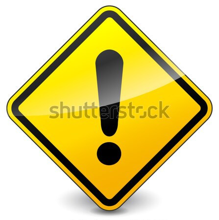 vector exclamation yellow icon Stock photo © nickylarson974