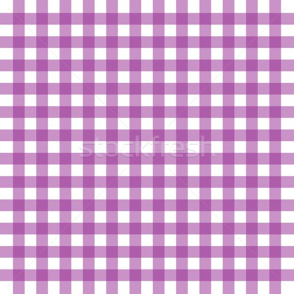 Vector purple gingham background Stock photo © nickylarson974