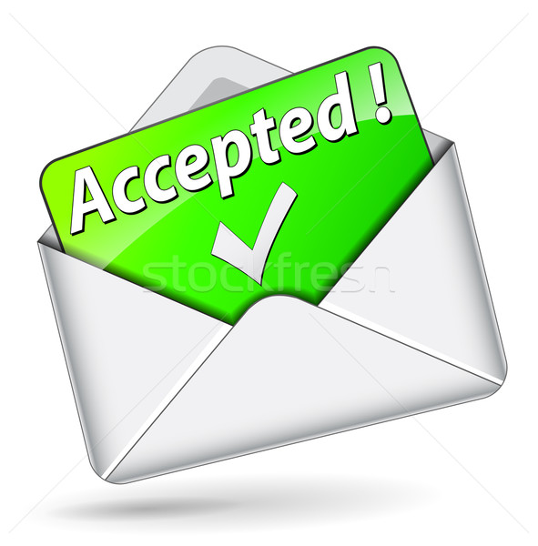 Vector accepted message Stock photo © nickylarson974