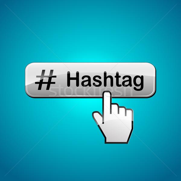 Stock photo: hashtag web button concept
