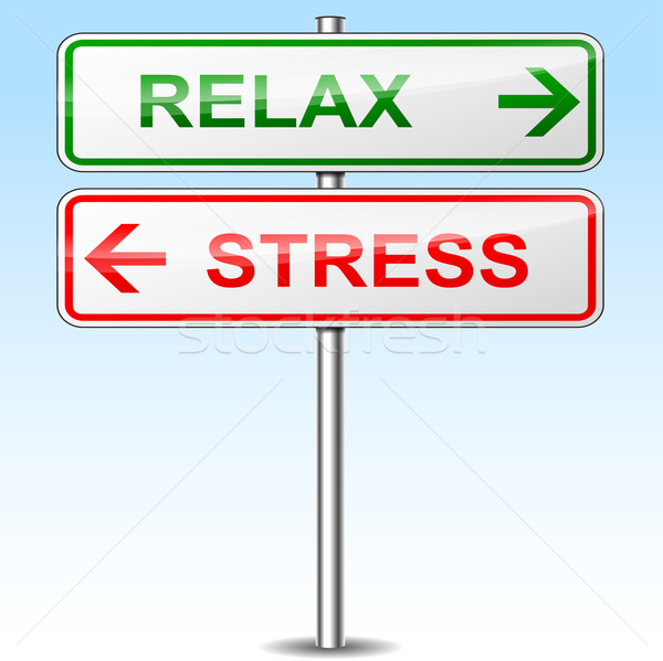 stress and relax directional signs Stock photo © nickylarson974