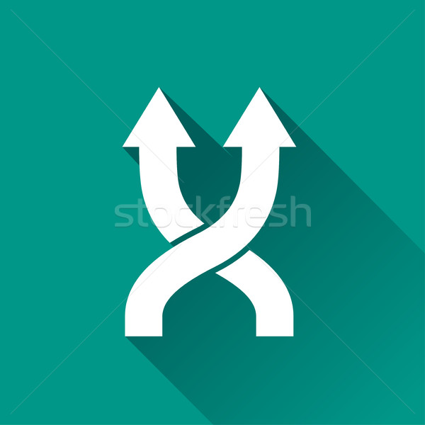 shuffle design icon Stock photo © nickylarson974