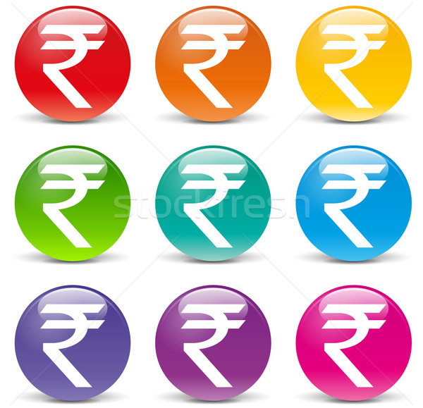 Vector rupee icons Stock photo © nickylarson974