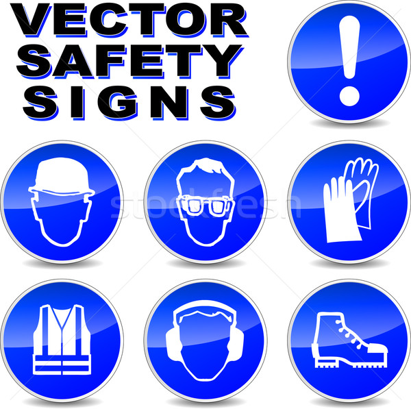 Vector safety signs Stock photo © nickylarson974