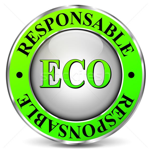 Eco-friendly icon Stock photo © nickylarson974