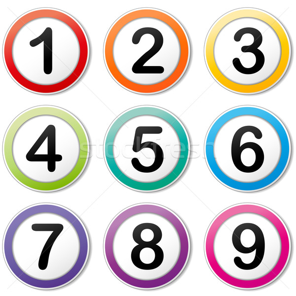 Vector numbering icons Stock photo © nickylarson974