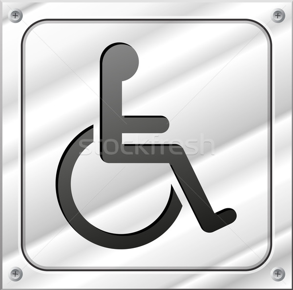 Vector handicap metal sign Stock photo © nickylarson974