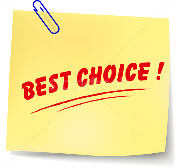 вектора Лучший выбор сообщение бумаги белый дизайна Сток-фото © nickylarson974