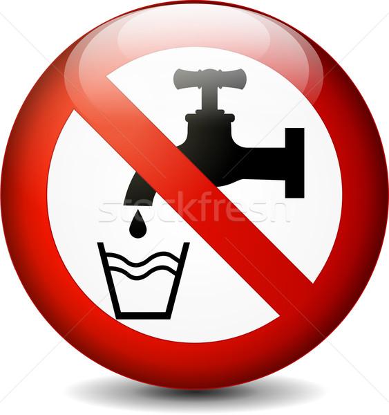 no drink water round sign Stock photo © nickylarson974