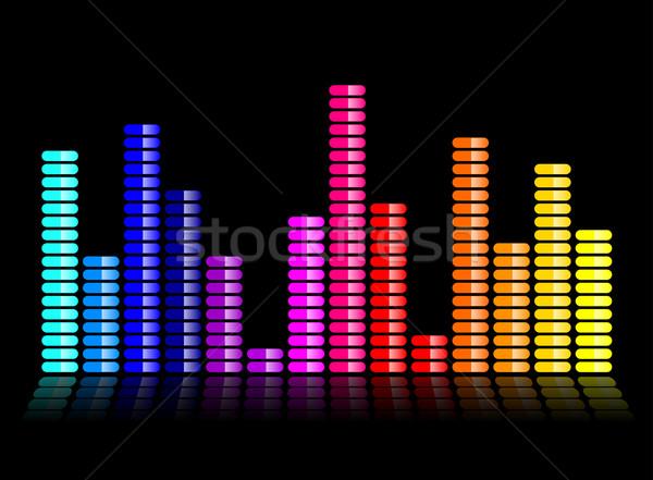 Colorido música ecualizador ilustración negro resumen Foto stock © nickylarson974