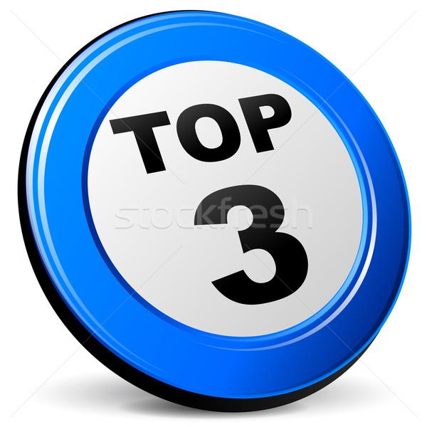 üst üç mavi ikon örnek dizayn Stok fotoğraf © nickylarson974