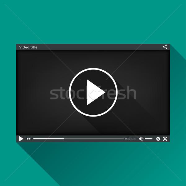 Siyah video oyuncu dizayn örnek teknoloji Stok fotoğraf © nickylarson974