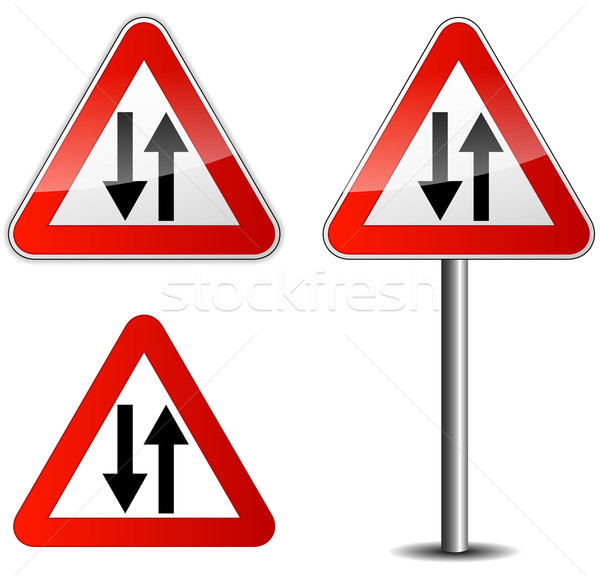 Vector roadsign Stock photo © nickylarson974