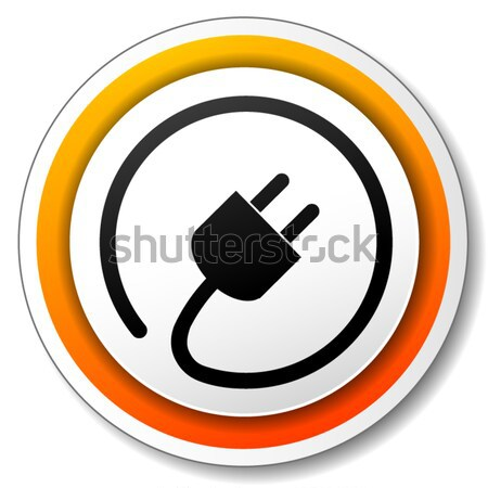 Vector electric icon Stock photo © nickylarson974